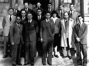 Enrico Fermi and the Chicago Pile Team 300x224 The First Nuclear Squash Court