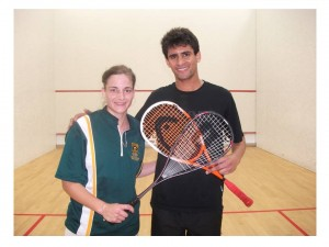 Christine Ferreira and Jamie Mathews - Deaf Squash World Champions 2010