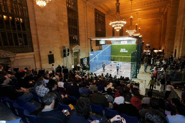 Tournament of Champions in Vanderbilt Hall Squash on Wall Street