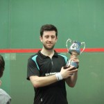 Daryl Selby with the mens trophy 150x150 Squash in a Rainy City