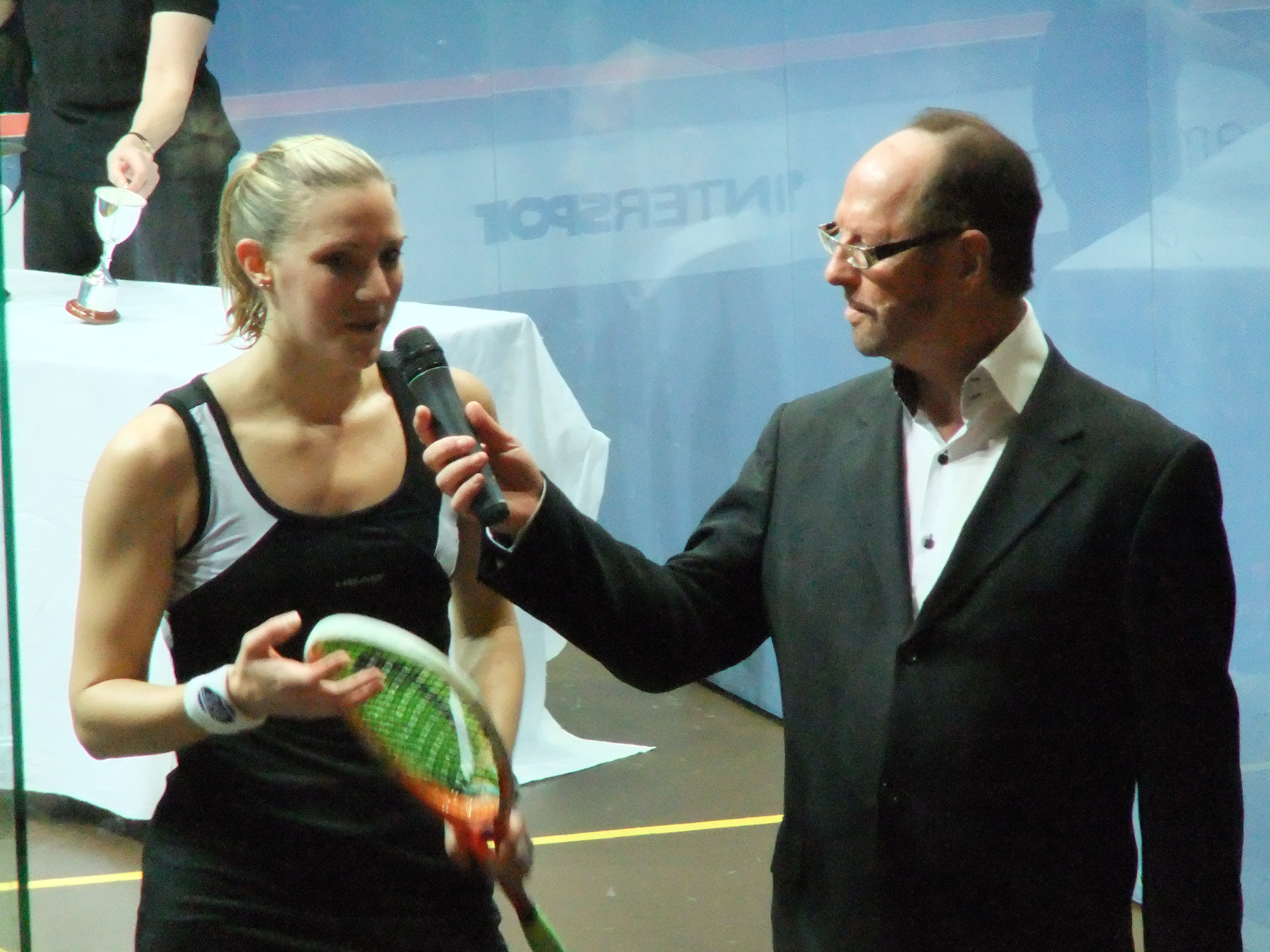 Laura Massaros post match interview Squash in a Rainy City