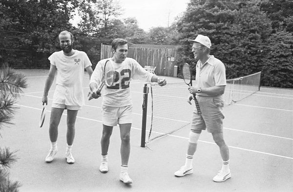 Donald Rumsfeld on the White House Tennis Court 1975