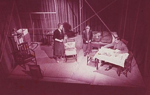 The first production of The Room 1957 Henry Woolf as Mr Kidd is in the middle Squash and the Art of Betrayal