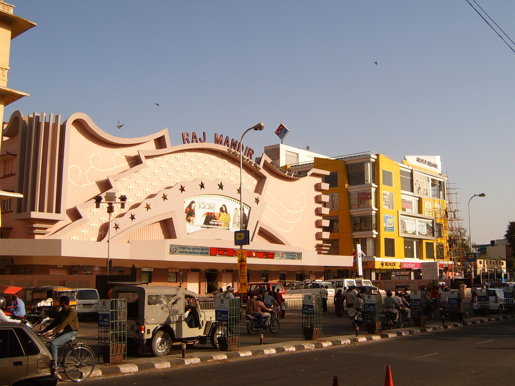 The Raj Mandir Cinema in Jaipur