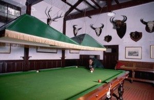 The Billiards Room in the Ooty Club