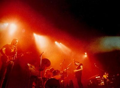 Pink Floyd on stage 1974 2 Dark Side of the Squash Court