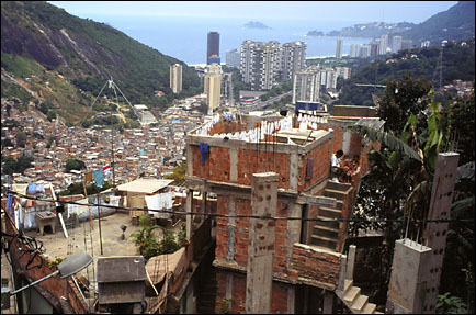Favela in Rio de Janeiro The Man in the Café Leblon (from the Squash Novel Breaking Glass)
