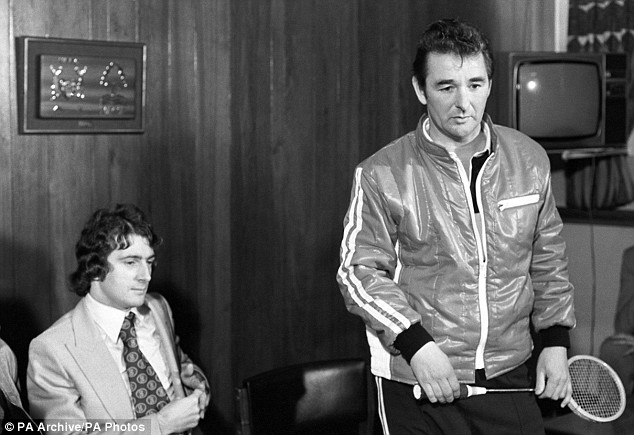 Brian Clough and Squash Racket Brian Clough's Squash Racket